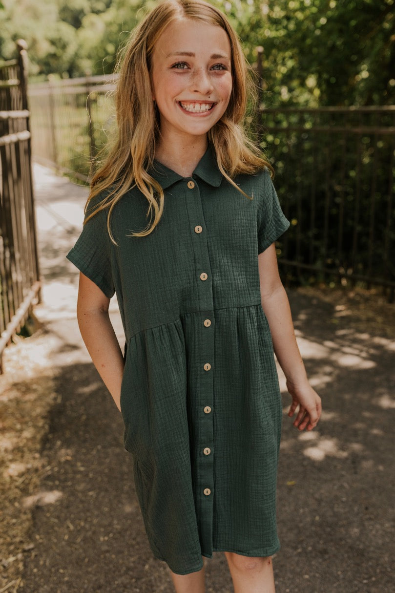 Green Fall Girls Dresses | ROOLEE