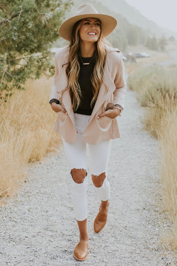 Hooded Blazer Outfit | ROOLEE