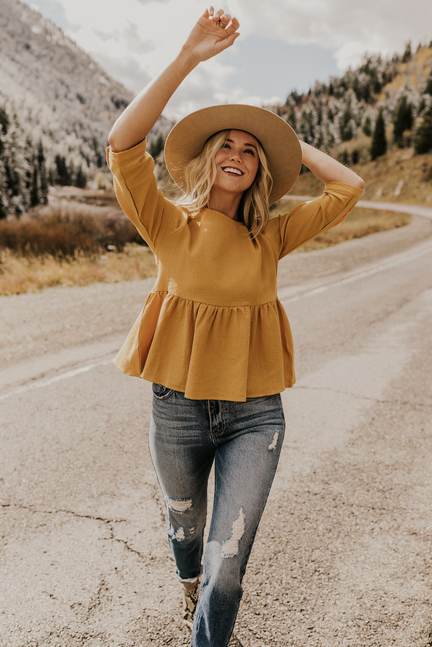 How to Style Winter Outfits in Yellow Tops | ROOLEE