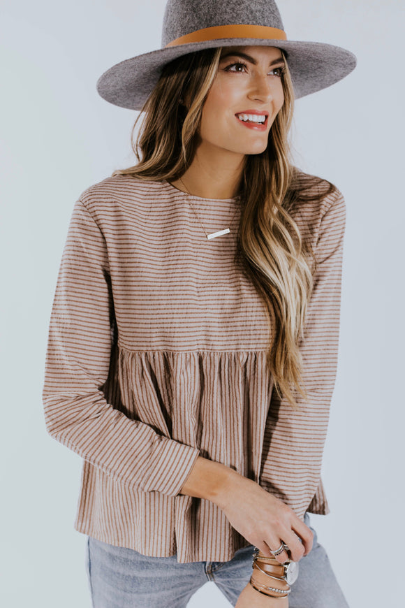 Breathe In Stripe Babydoll | ROOLEE