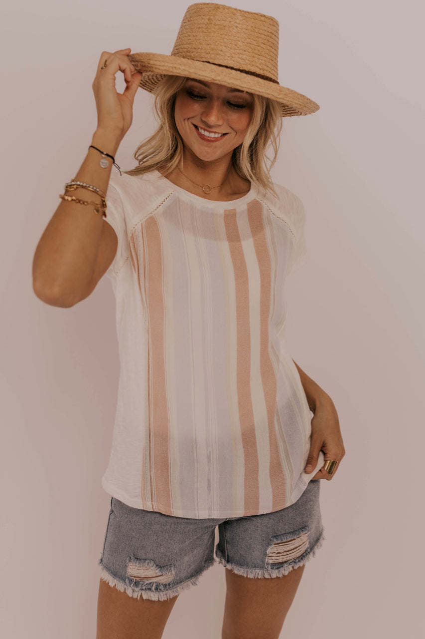 Spring/Summer Striped Blouse Outfit | ROOLEE