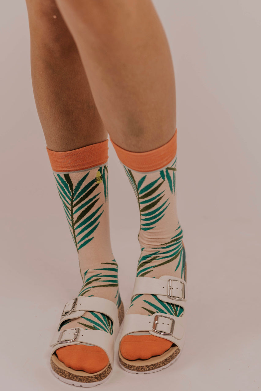 Palm Leaf Socks | ROOLEE