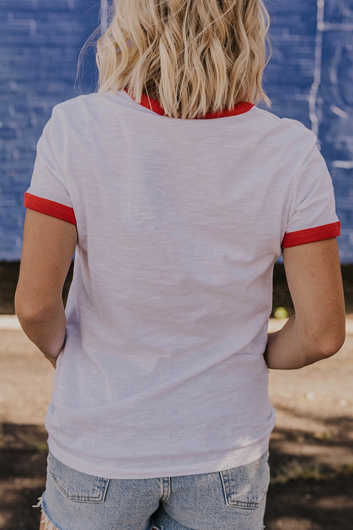 White Graphic Tee | ROOLEE