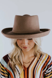 Taupe Womens Gambler Hat | ROOLEE