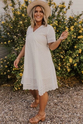 White Lace Dress | ROOLEE
