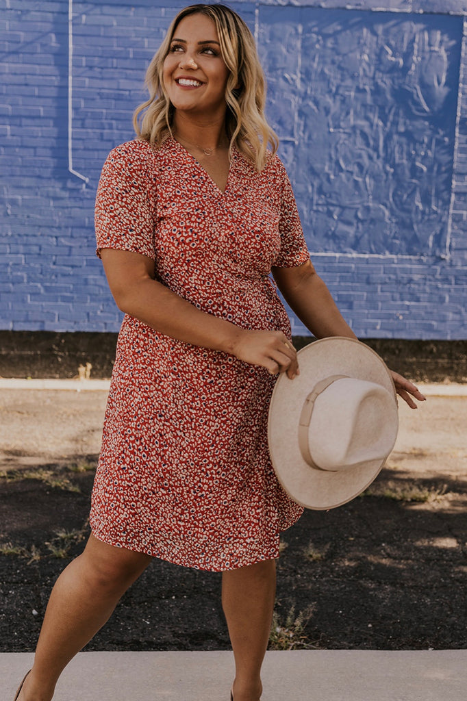 Floral Wrap Nursing Friendly Dress | ROOLEE