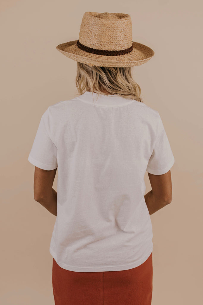 Casual White Tee Shirt | ROOLEE