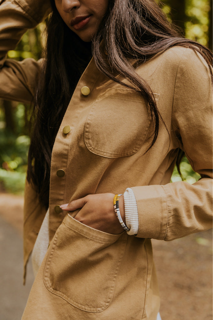 Button up tan jackets for fall | ROOLEE