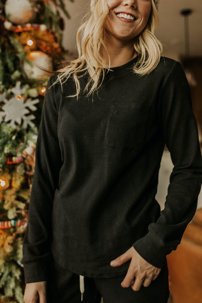Crew Neck Modest and Cozy Loungewear for Women | ROOLEE
