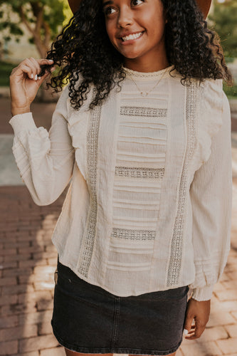 Lace Long Sleeve Top | ROOLEE