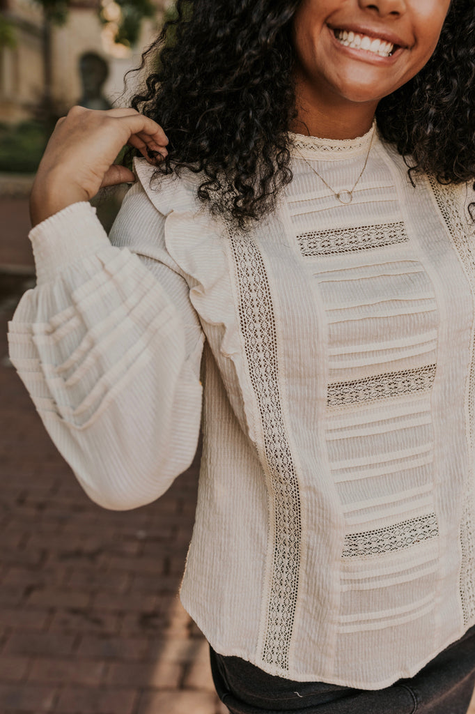 Lace Detail Top | ROOLEE