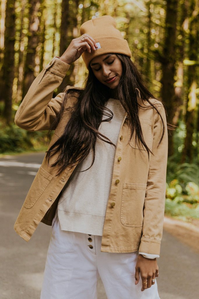 Cute brown button up | ROOLEE