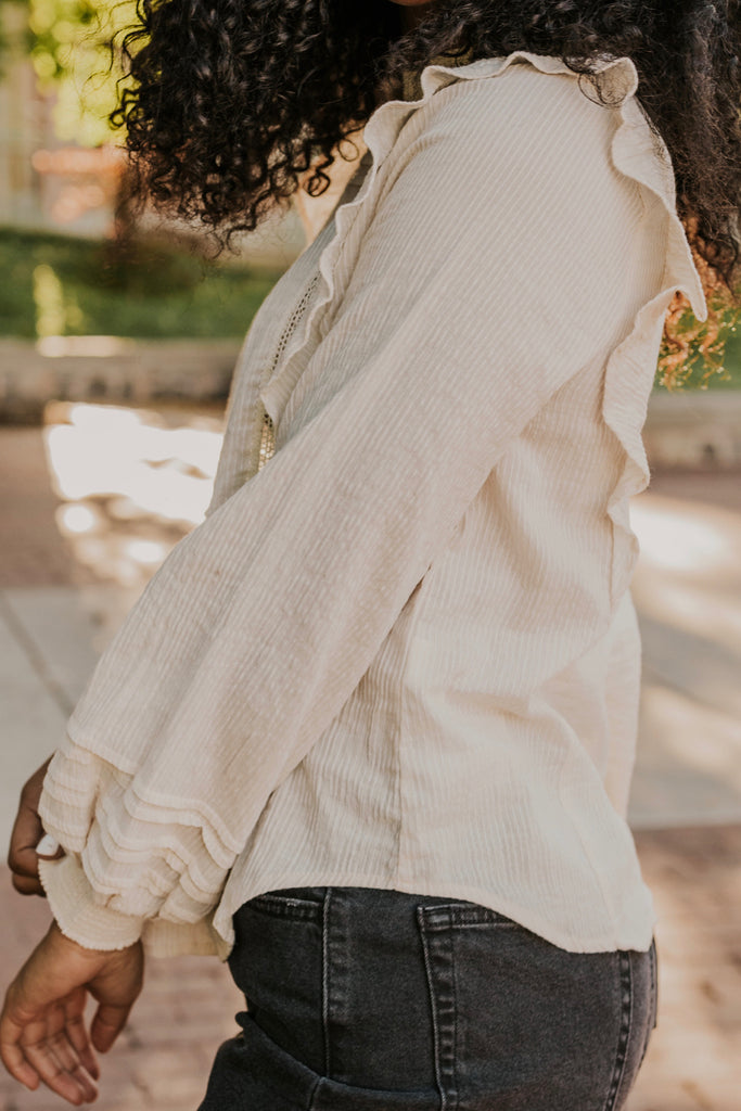 Long Sleeve Linen Blouse | ROOLEE