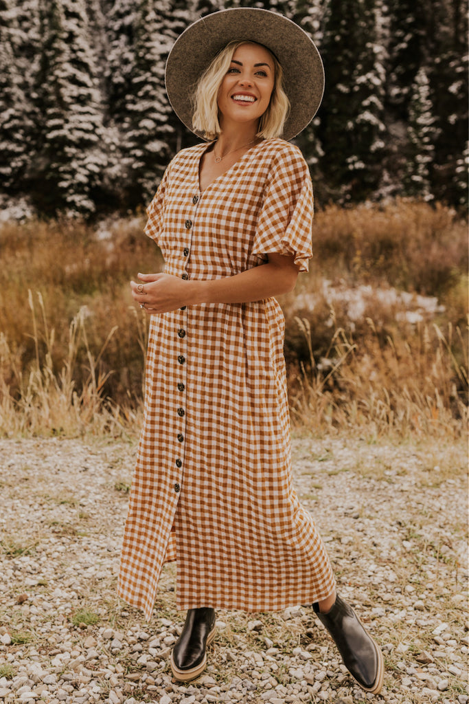 Checkered Fall Dress | ROOLEE