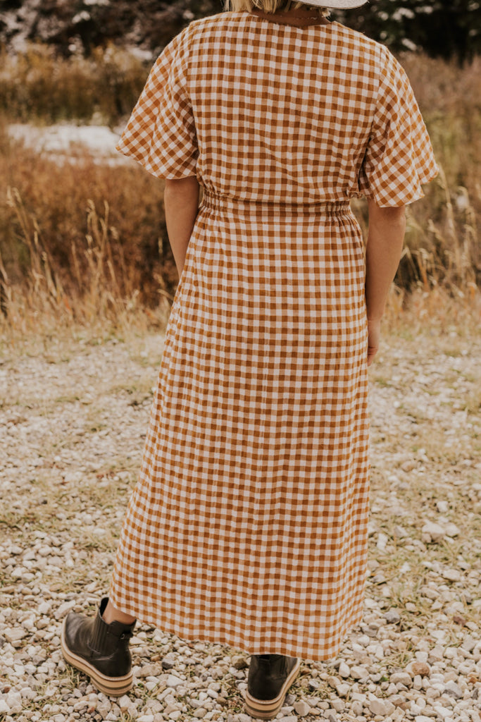 Checkered Midi Dress | ROOLEE