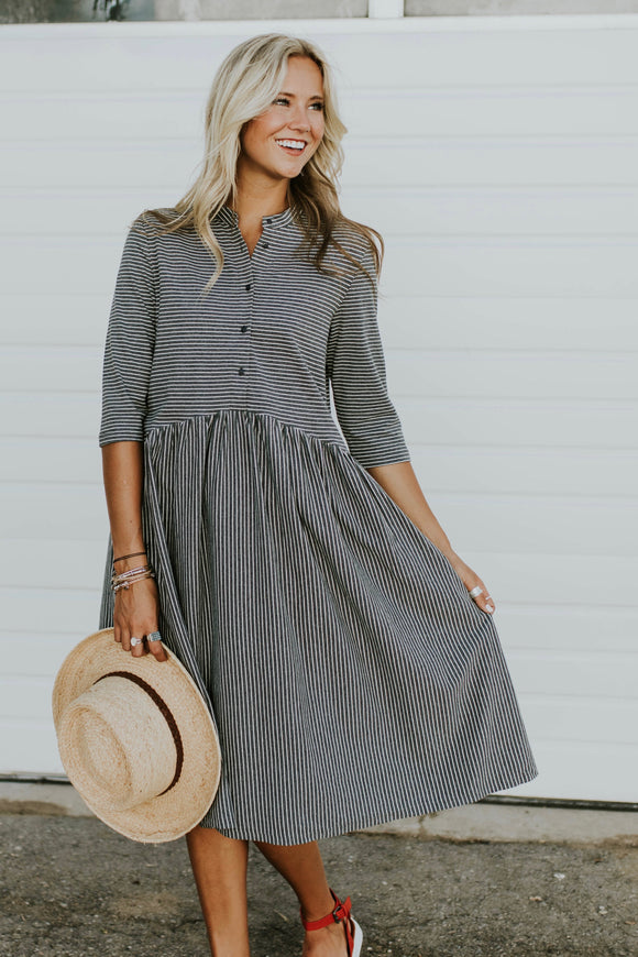 Jaicee Stripe Dress | ROOLEE