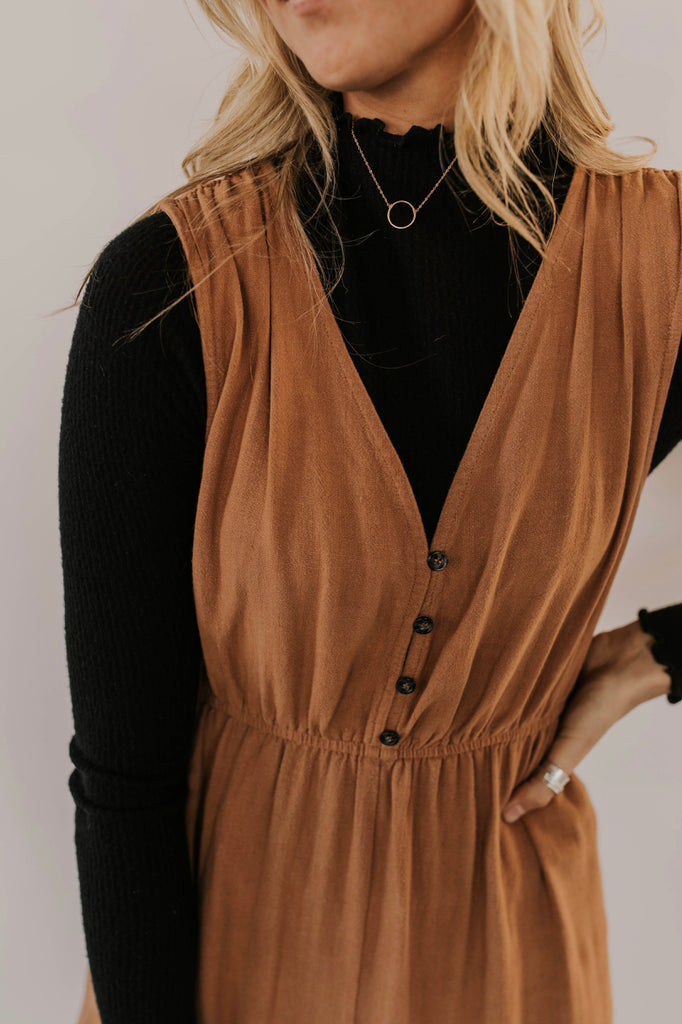 Rust Jumpsuit Outfit | ROOLEE