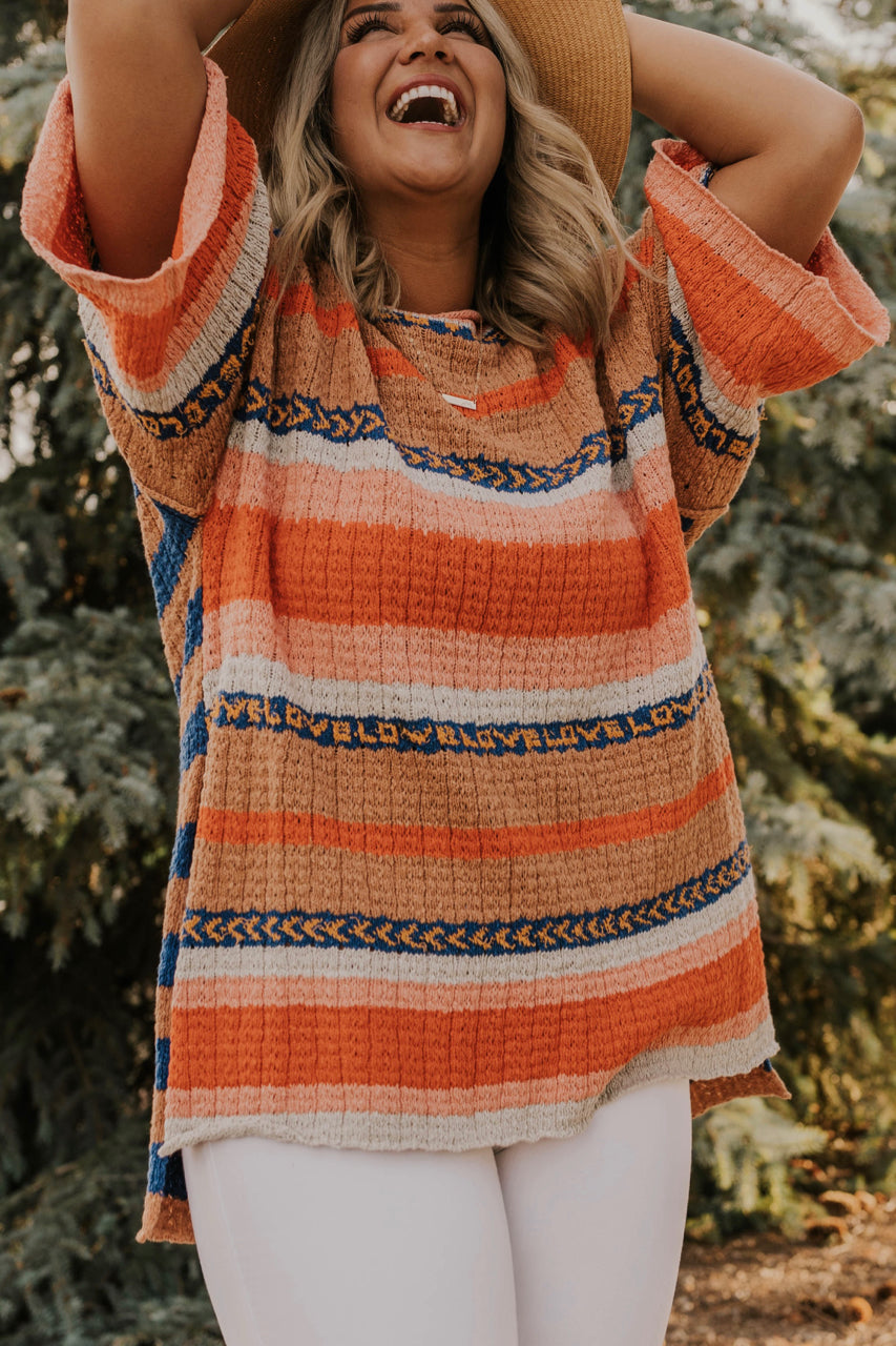 Striped Sweater Tunic | ROOLEE