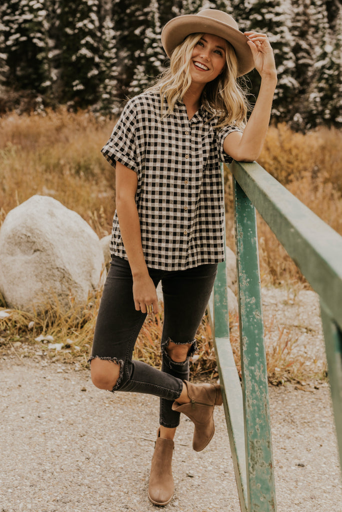 Checkered Blouse | ROOLEE