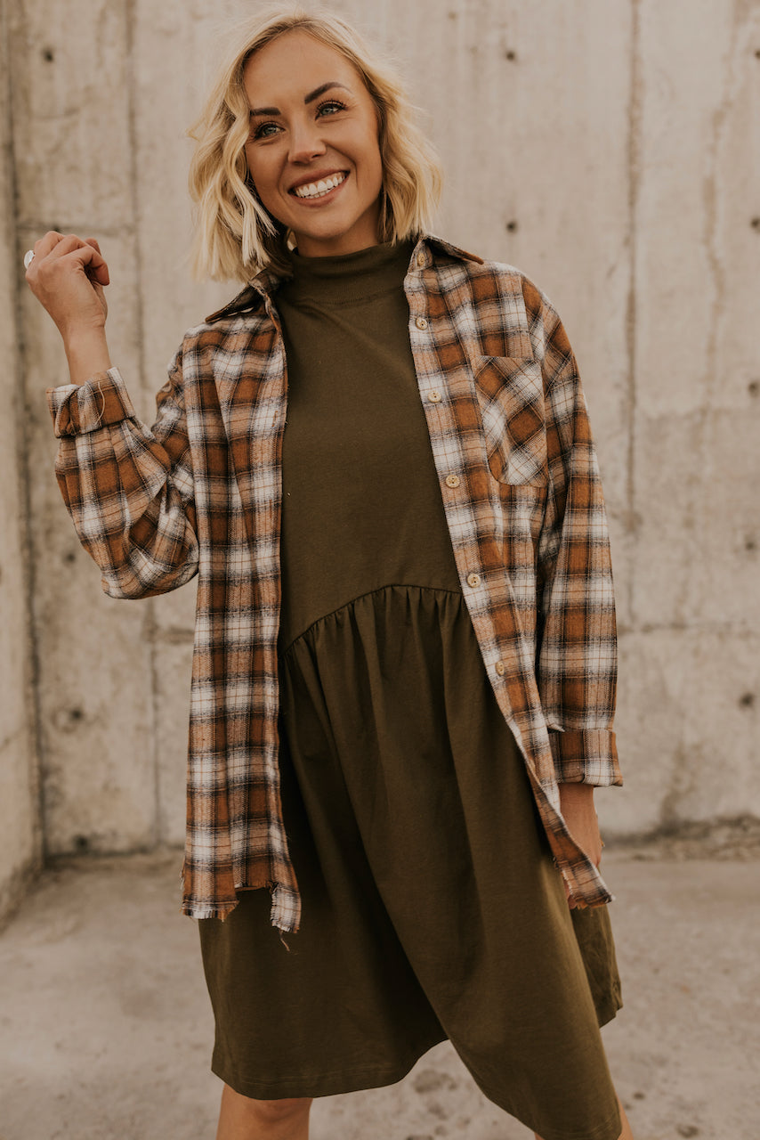 Olive Babydoll Dress | ROOLEE