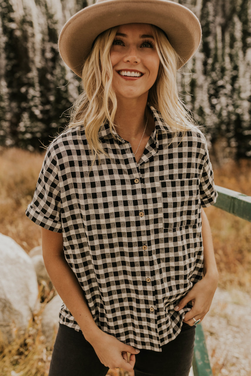 Black Checkered Shirt | ROOLEE