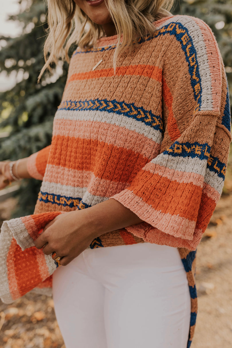 Striped Tunic Fall Outfit | ROOLEE