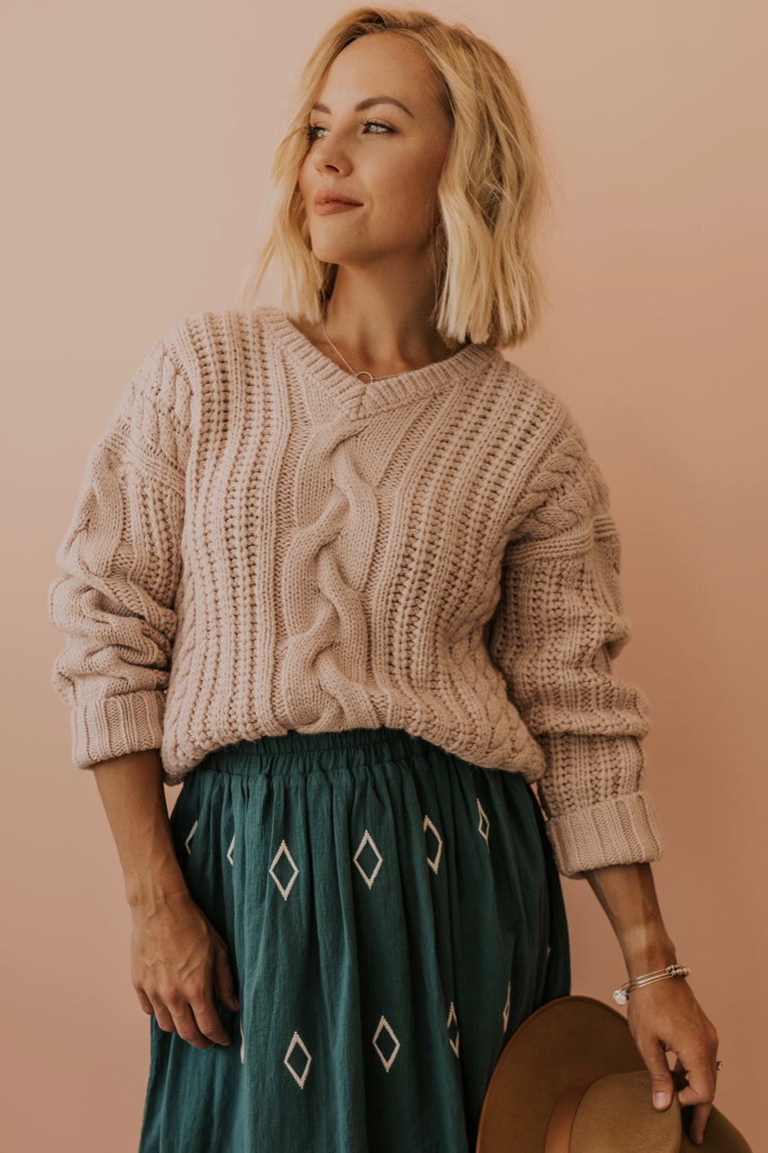 Chunky Knit Sweater | ROOLEE