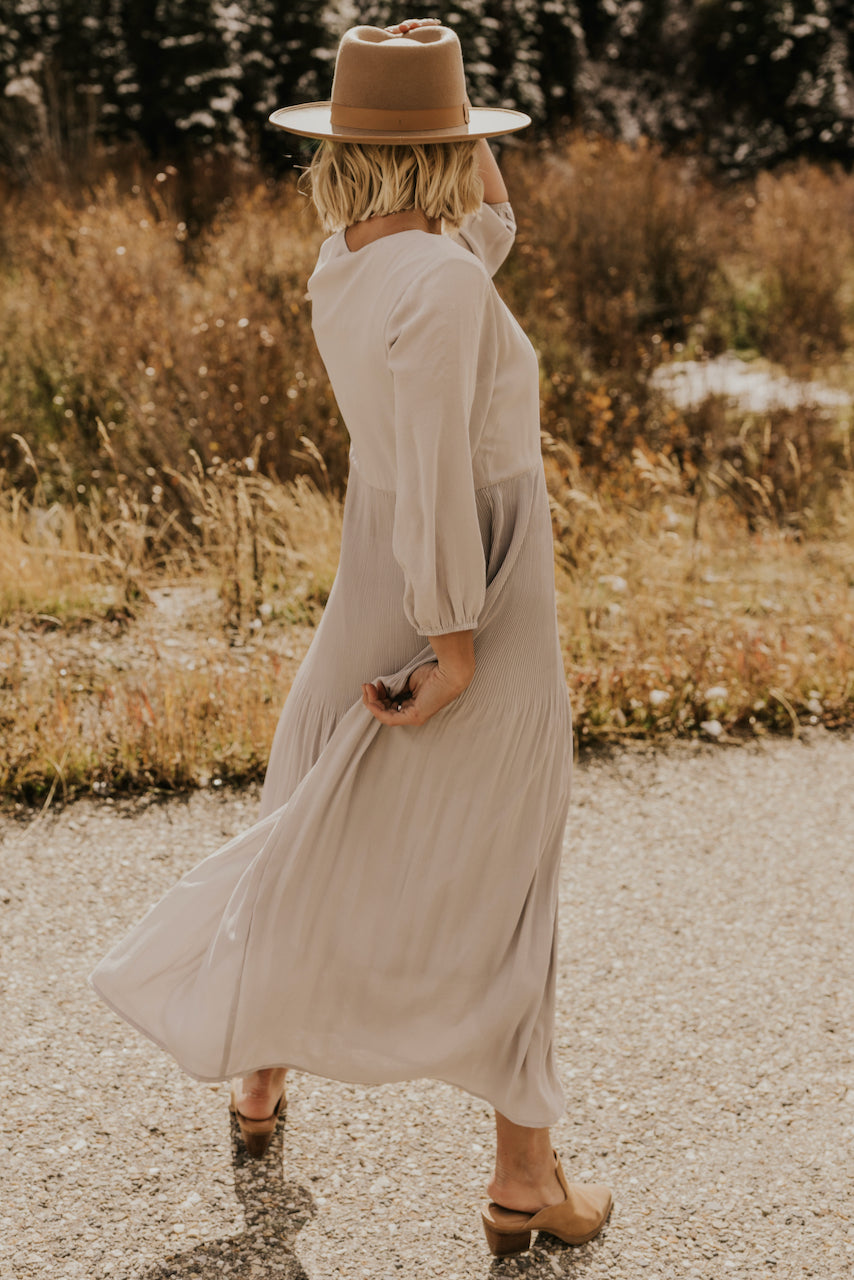 Light Grey Maxi Dress | ROOLEE