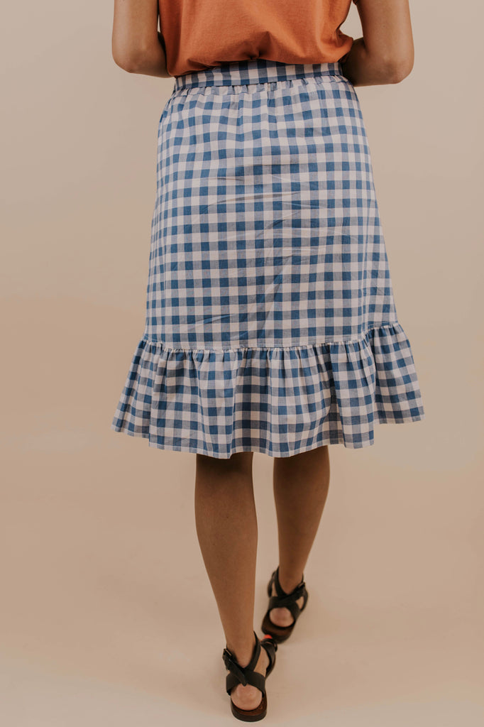 Pleated Skirt In Blue | ROOLEE