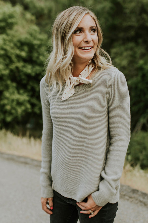Ivy Knit Sweater in Grey | ROOLEE