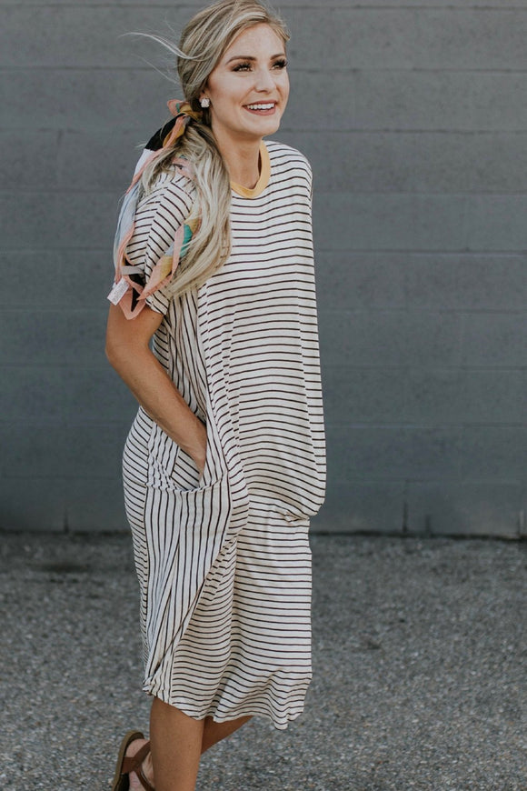 Sonny Stripe Dress | ROOLEE