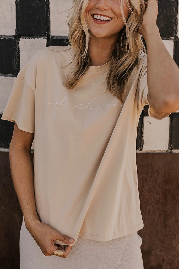 Embroidered Saying Tee | ROOLEE