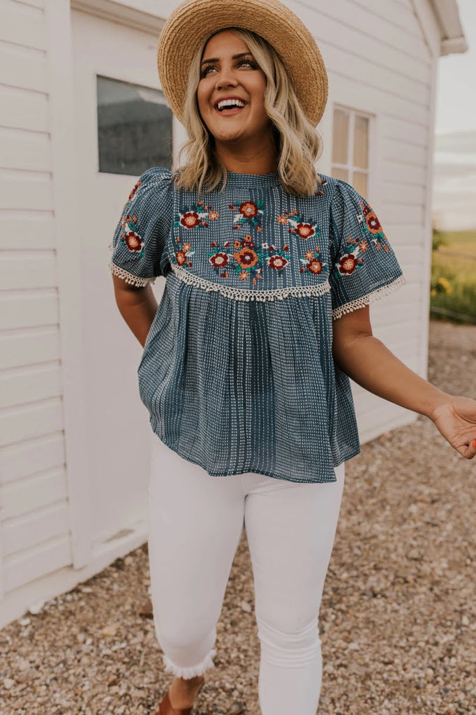 Stitched Statement Blouse | ROOLEE