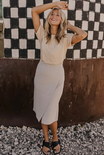 Wrap Knit Skirt | ROOLEE