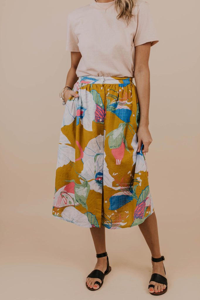 Bright Midi Skirt | ROOLEE