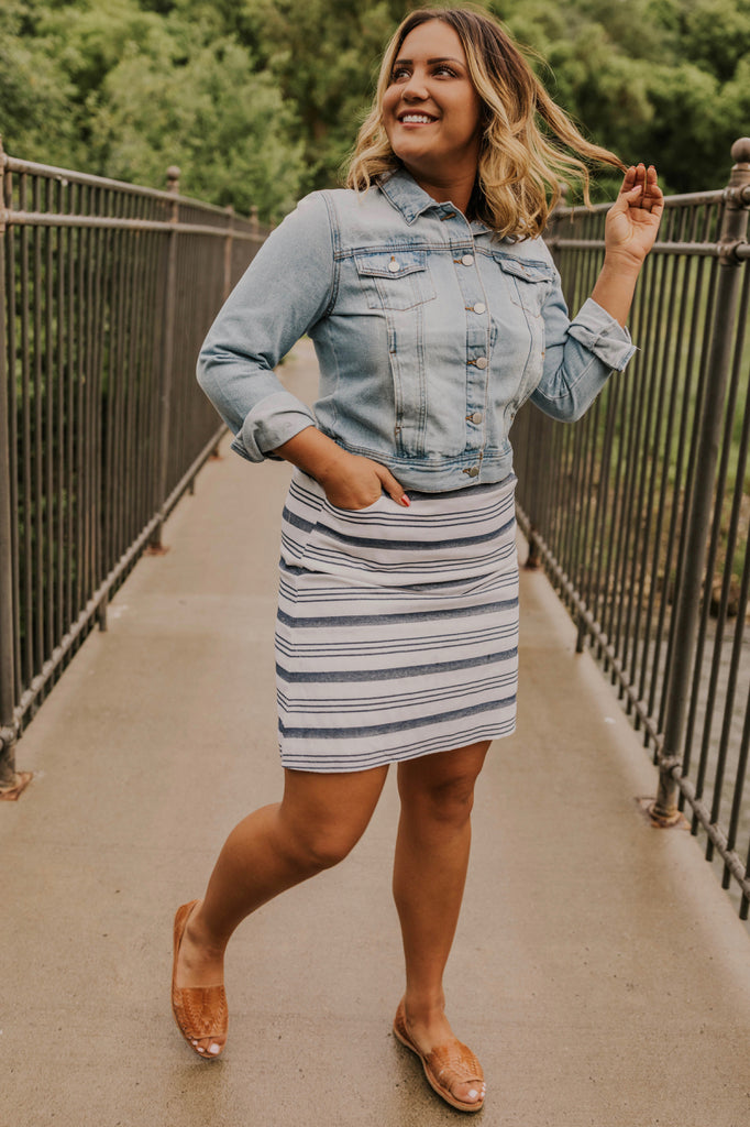 Cute + Trendy Striped Summer Skirt | ROOLEE