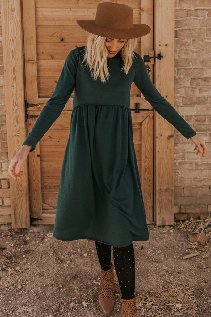Long Sleeve Flowing Party Dress | ROOLEE