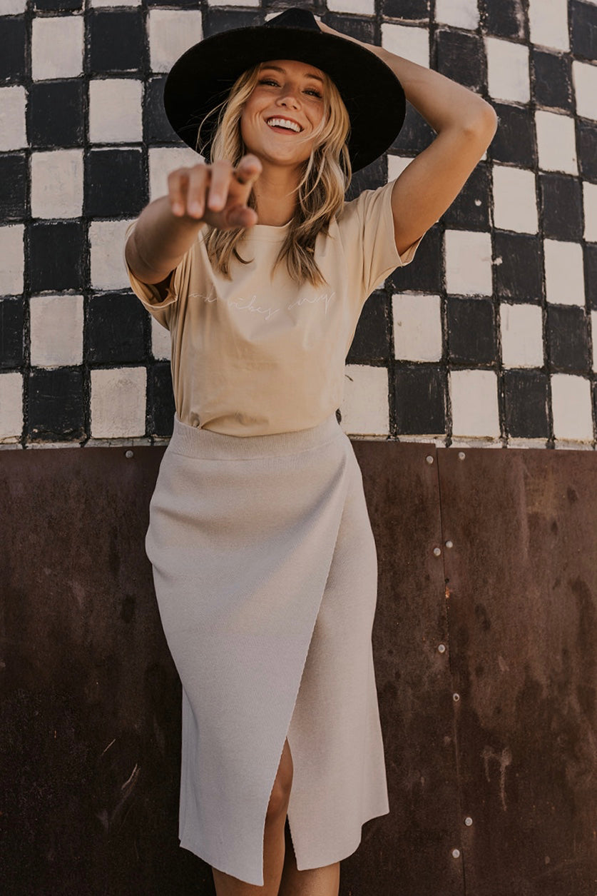 Grey Wrap Skirt | ROOLEE
