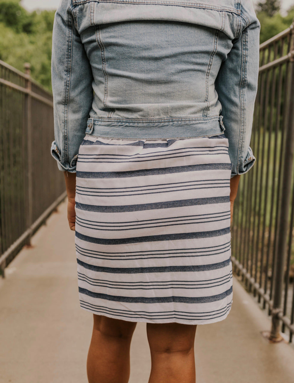 Cute Striped Mini Skirt | ROOLEE