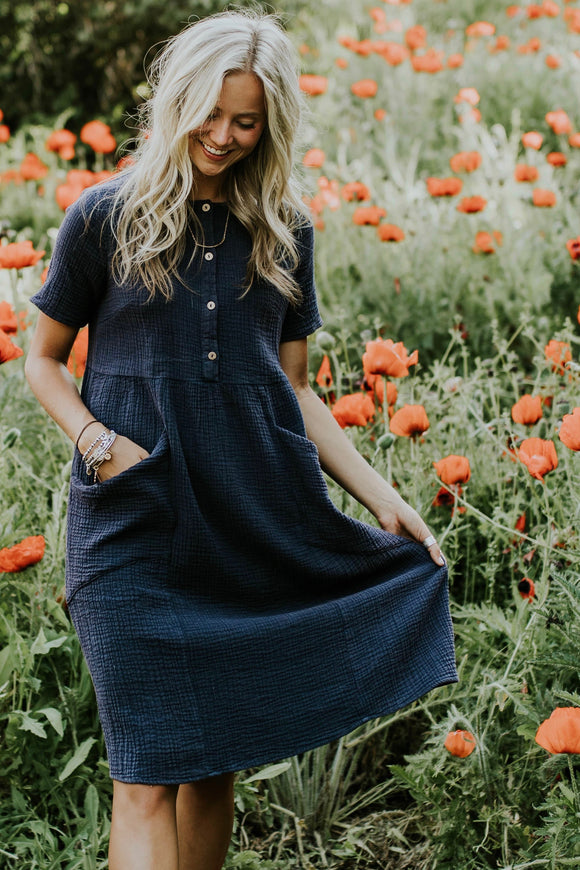 Bonneville Button Dress | ROOLEE