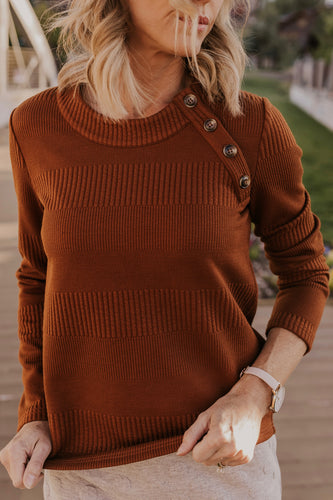 Loretta Button Sweater