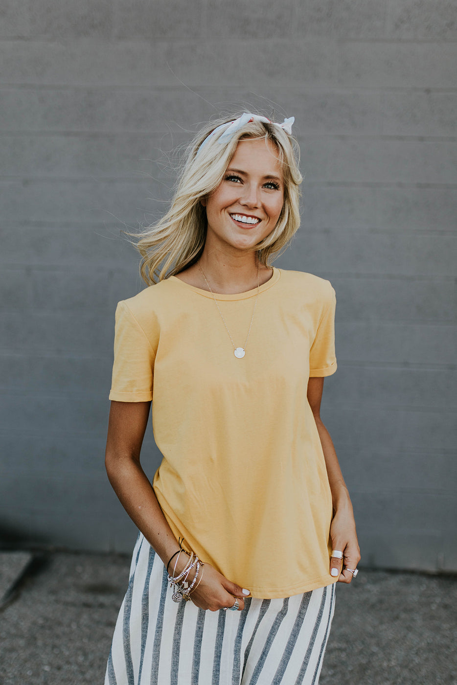Yellow Classic Tee Shirt For Women | ROOLEE