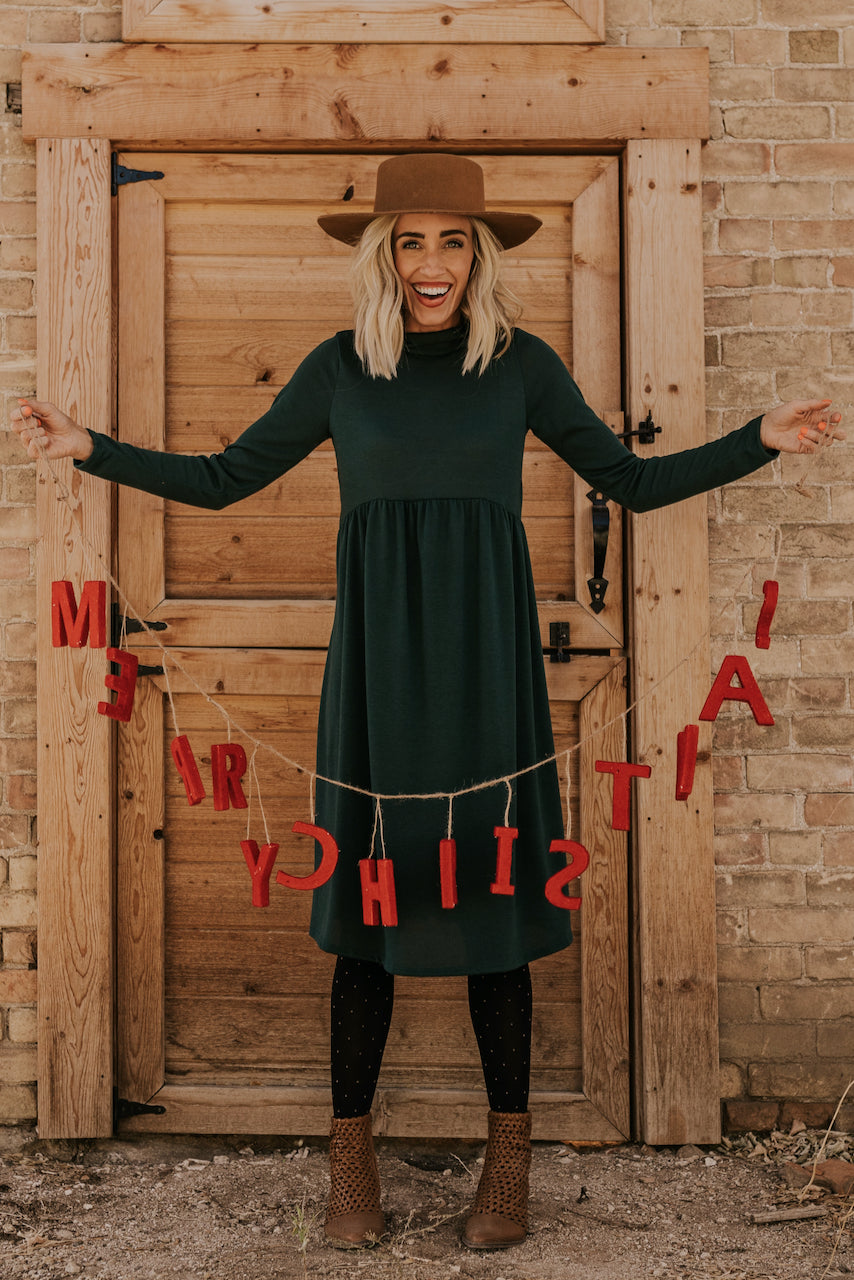 Evergreen Pine Holiday Dress | ROOLEE