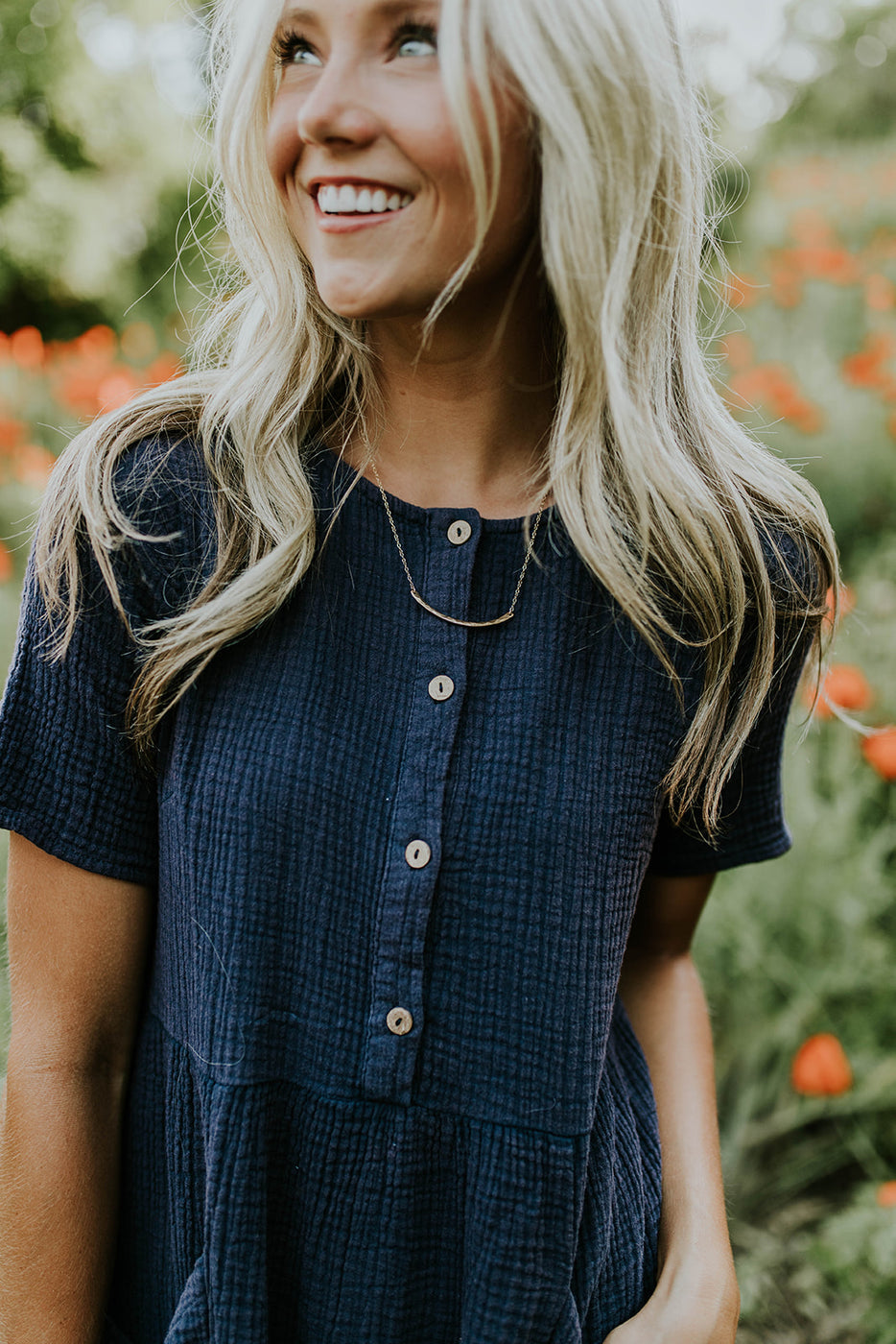 Button Up Dress w/Patch Pockets | ROOLEE