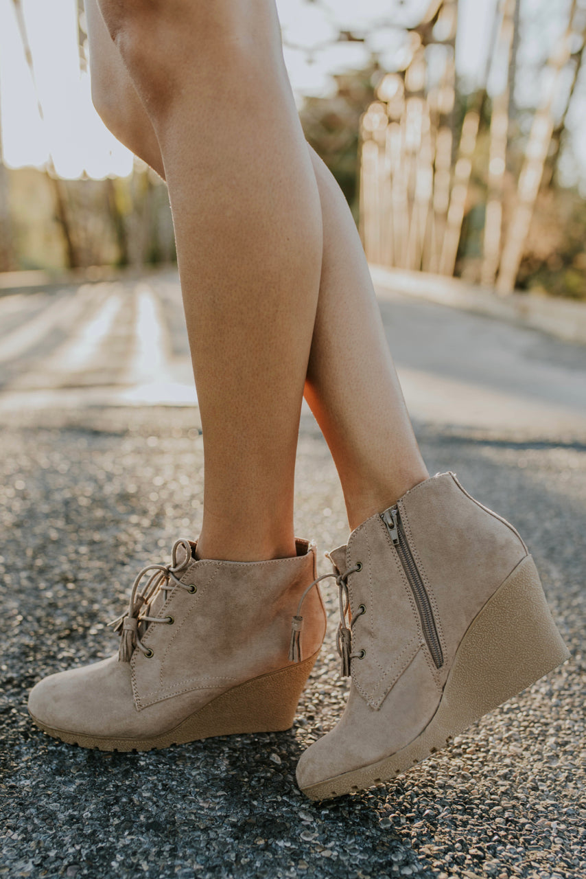 Low Heel Lace Up Booties | ROOLEE