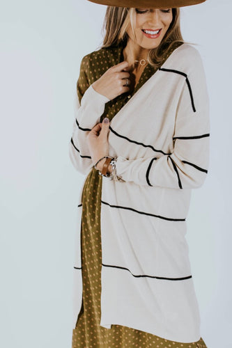 Cozy Stripe Cardigan for Fall | ROOLEE
