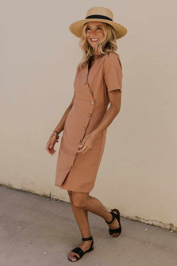 Women's Modest Mauve Dress | ROOLEE