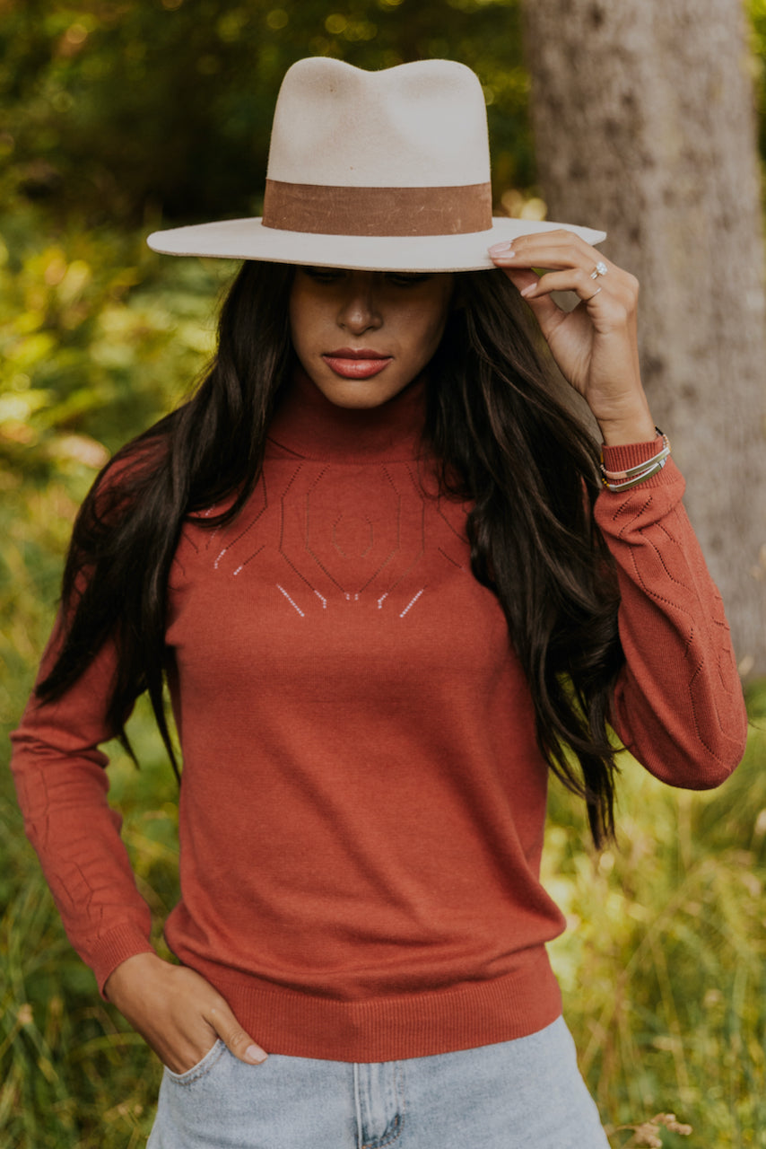 Red Cropped Sweater | ROOLEE