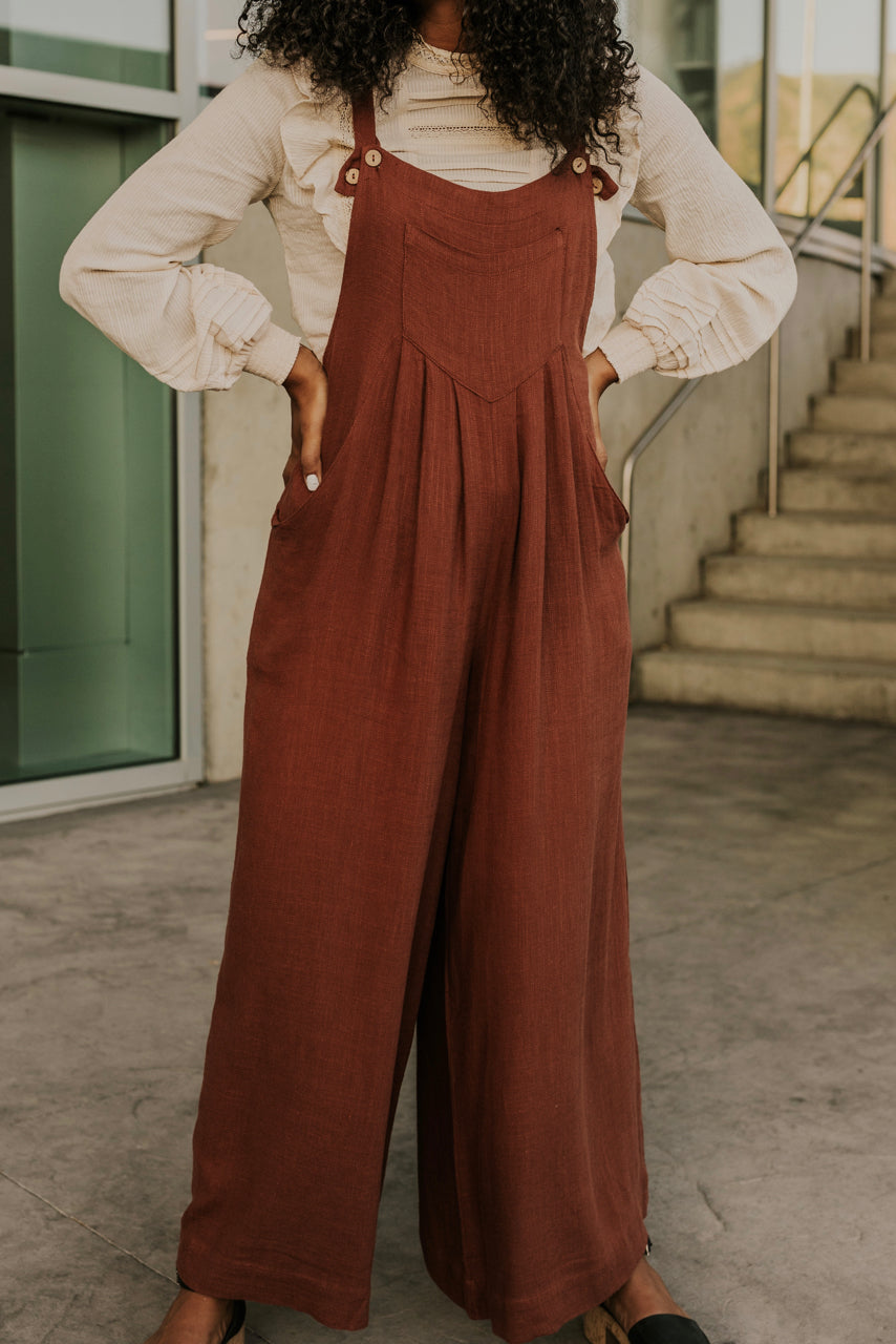 Rust Jumpsuit Outfits | ROOLEE