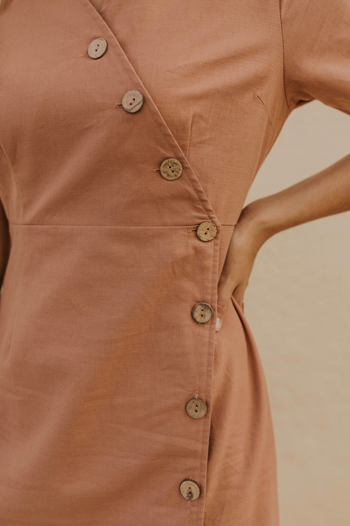 Mauve Button Dress | ROOLEE